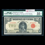 $2 1923 DC-26g McCavour-Saunders, Red seal, Group 2. McCavour-Saunders Series N Prefix N PMG VF-35