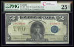 $2 1923 DC-26i Campbell-Sellar Blue seal, Group 2 Series S Prefix S PMG VF-25