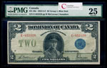 $2 1923 DC-26k Campbell-Clark, Black seal, Group 3 Campbell-Clark Series V Prefix V PMG VF-25