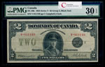 $2 1923 DC-26k Campbell-Clark, Black seal, Group 3 Campbell-Clark Series V Prefix V PMG VF-30