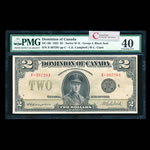 $2 1923 DC-26l Campbell-Clark, Black seal, Group 4. Campbell-Clark Series X Prefix X PMG EF-40