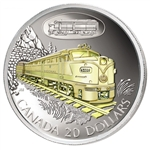 $20 2003 Silver Coin - C.N.R. FA-1 Diesel Electric Locomotive