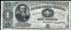 United States $1 1890 Treasury Note Rosecrans-Nebeker  F-12