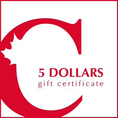$5 Canadian Coin & Currency Gift Certificate