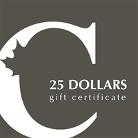 $25 Canadian Coin & Currency Gift Certificate