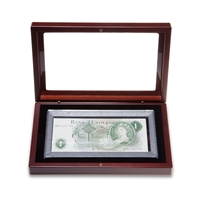 Banknote Holder BN156 Mahogany Finish Fits banknotes up to 156x75mm
