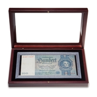 Banknote Holder BN190 Mahogany Finish Fits banknotes up to 190x91mm