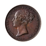 Jersey 1851 -  1/26 Shilling Victoria MS-63