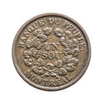 Lower Canada 1 Sou Token 1838 LC-5A1 VF-30