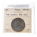 Lower Canada Token 1820 LC-60E2 EF-40 ICCS