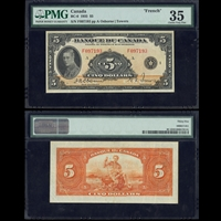 $5 1935 French BC-6 A Osborne-Towers A Osborne-Towers Prefix F PMG VF-35