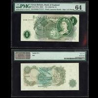 England 1 Pound ND 1966-1970 Fforde MS-64 PMG