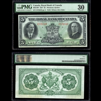 The Royal Bank of Canada $5 1927 Wilson-Holt PMG VF-30