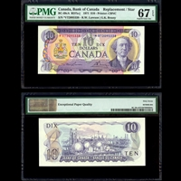 $10 1971 Replacement BC-49cA RD7a-j R.W Lawson-G.K.Bouey R.W. Lawson-G.K. Bouey Prefix VT PMG GUNC-67