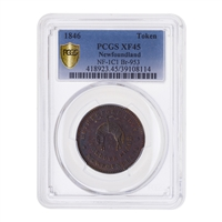 NFLD  1/2 Penny Token 1846 PCGS EF-45