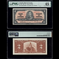 $2 1937 BC-22b Gordon-Towers Gordon-Towers Prefix U/B PMG EF-45