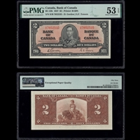 $2 1937 BC-22b Gordon-Towers Gordon-Towers Prefix H/B PMG AU-53
