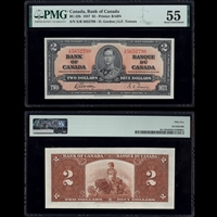 $2 1937 BC-22b Gordon-Towers Gordon-Towers Prefix X/B PMG AU-55