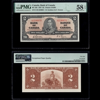 $2 1937 BC-22b Gordon-Towers Gordon-Towers Prefix U/B PMG AU-58