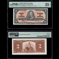 $2 1937 BC-22c Coyne-Towers Coyne-Towers Prefix L/R PMG VF-35