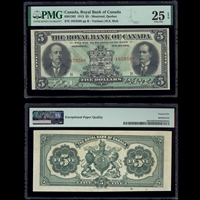 The Royal Bank of Canada $5 1913 Various-Holt PMG VF-25