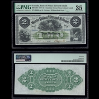 The Bank of Prince Edward Island $2 1877 Various PMG VF-35