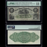The Bank of Prince Edward Island $2 1877 Various PMG F-15