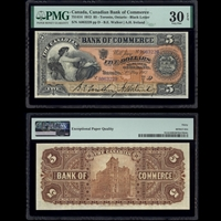 The Canadian Bank of Commerce $5 1912 Walker-Ireland PMG VF-30