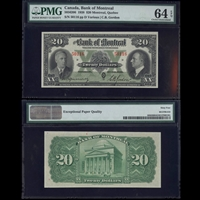 The Bank of Montreal $20 1938 Various-Gordon PMG CUNC-64