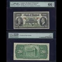 The Bank of Montreal $20 1938 Spinney-Gordon PMG GUNC-66