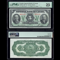 The Imperial Bank of Canada $5 1923 Rolph-Phipps PMG VF-25