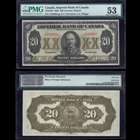 The Imperial Bank of Canada $20 1923 Howland-Phipps PMG AU-53