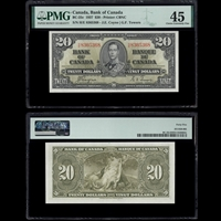 $20 1937 BC-25c Coyne-Towers Coyne-Towers Prefix H/E PMG EF-45