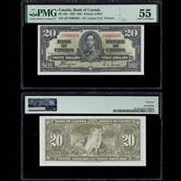 $20 1937 BC-25c Coyne-Towers Coyne-Towers Prefix J/E PMG AU-55
