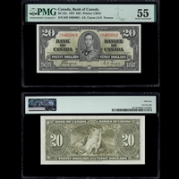 $20 1937 BC-25c Coyne-Towers Coyne-Towers Prefix H/E PMG AU-55