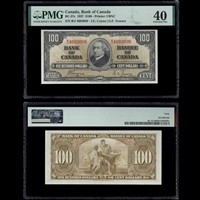 $100 1937 BC-27c Coyne-Towers Coyne-Towers Prefix B/J PMG EF-40