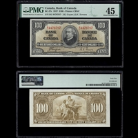 $100 1937 BC-27c Coyne-Towers Coyne-Towers Prefix B/J PMG EF-45