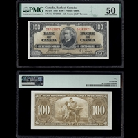 $100 1937 BC-27c Coyne-Towers Coyne-Towers Prefix B/J PMG AU-50