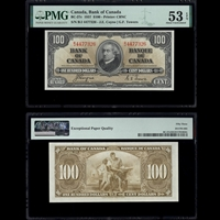 $100 1937 BC-27c Coyne-Towers Coyne-Towers Prefix B/J PMG AU-53