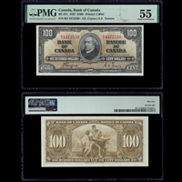 $100 1937 BC-27c Coyne-Towers Coyne-Towers Prefix B/J PMG AU-55