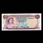 Bahamas 50 Cents 1968 Elizabeth II Issued note UNC-60