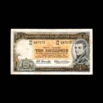 Australia 10 Shillings 1953 George VI Issued note VF-20
