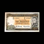 Australia 10 Shillings 1953 George VI Issued note VF-30