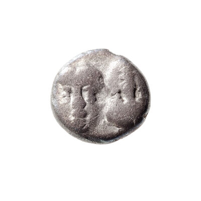 Ancient Greece Silver Quarter Drachm 350 BC Istros, Thrace F-12
