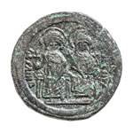 Byzantine Follis Justin II and Sophia 565 AD VF-30