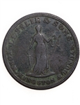 Upper Canada 1/2 Penny Token 1828 UC-2A5 VG-10