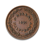 Saint Helena & Ascension Half Penny 1821 VF-30