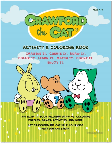 Crawford the Cat       Activity & Coloring Book