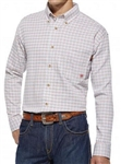 Ariat Brand FR Gauge White Plaid Work Shirt