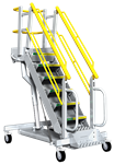 RollAStep G Series Mobile Self Leveling Stair Work Platform - G9